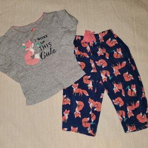 12m Carters thermal & fleece pajama set